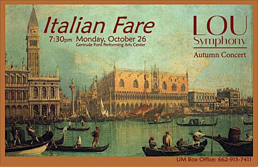 Italian Fare Poster for Webpage